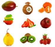 Geïsoleerd fruit Stock Afbeeldingen