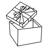 Geïsoleerd Giftbox open royalty-vrije illustratie