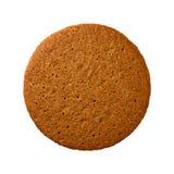 Geïsoleerd Ginger Snap Cookie Stock Fotografie