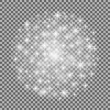 Geïsoleerd gloed lichteffect voor transparante achtergrond Vector illustratie royalty-vrije illustratie