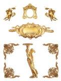 Geïsoleerd gouden detail Stock Afbeelding