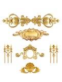 Geïsoleerd gouden detail Royalty-vrije Stock Afbeeldingen