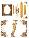 Geïsoleerd gouden detail Stock Foto