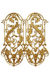Geïsoleerd gouden patroon Boeddhismetempel Stock Foto