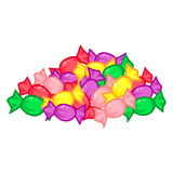 Geïsoleerd groeps kleurrijk suikergoed Royalty-vrije Stock Afbeelding