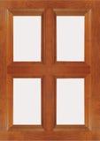 Geïsoleerd houten paneelvenster met lege ruimte Stock Foto's