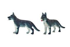 Geïsoleerd jachthondstuk speelgoed Stock Foto