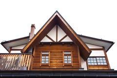 Geïsoleerd Japans Huis Stock Foto's