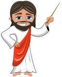 Geïsoleerd Jesus Christ Teacher Master Stick Royalty-vrije Stock Fotografie