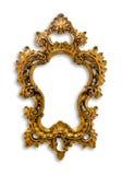 Geïsoleerd kader van gouden royalty-vrije stock afbeelding