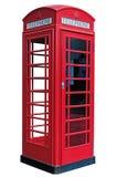 Geïsoleerd Klassiek Londen PhoneBooth Stock Afbeelding