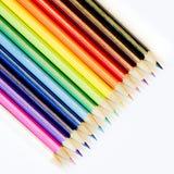 Geïsoleerd kleuringskleurpotlood Stock Fotografie