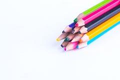 Geïsoleerd kleurpotlood Stock Foto