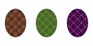 Geïsoleerd Kleurrijk Paasei, vector illustratie