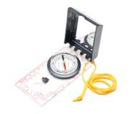 Geïsoleerd kompas Stock Foto's
