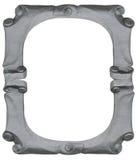 Geïsoleerd leeg zilveren met de hand gemaakt frame Royalty-vrije Stock Foto's