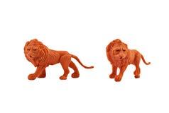 Geïsoleerd leeuwstuk speelgoed Royalty-vrije Stock Afbeelding
