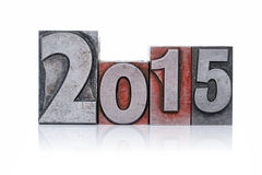 2015 geïsoleerd Letterzetsel Stock Foto's