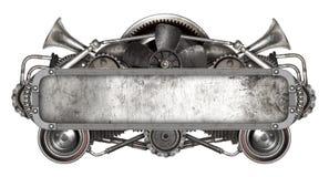 Geïsoleerd metaalkader en oude autovervangstukkenauto Stock Fotografie