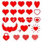 Geïsoleerd modern hartsymbool voor cardiologieapotheek en medisch centrum Geplaatste de pictogrammen van het hartembleem Valentin royalty-vrije illustratie