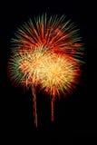 Geïsoleerd mooi vuurwerk Stock Foto's