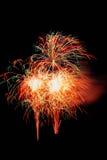 Geïsoleerd mooi vuurwerk Royalty-vrije Stock Afbeelding