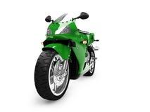 Geïsoleerd motorfiets vooraanzicht Royalty-vrije Stock Foto's