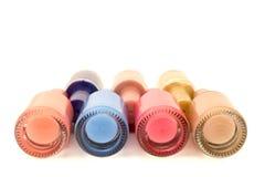 Geïsoleerd nagellak horizontaal overwhite Stock Foto