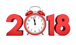 Geïsoleerd nieuwjaar 2018 Concept Royalty-vrije Stock Afbeelding