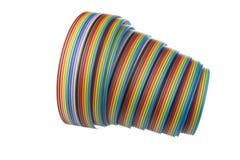 Geïsoleerd ontsproten een flatcable kleur Stock Fotografie