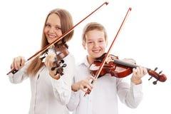 Het duet van de viool Stock Foto's