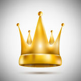 Geïsoleerd op Witte Pentagonale Gouden Kroon royalty-vrije illustratie