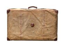 Geïsoleerd Oud Uitstekend Dusty Suitcase in een dekking Stock Foto's