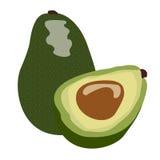 Geïsoleerd paar avocado's royalty-vrije illustratie