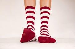 Geïsoleerd paar sokken stock afbeelding