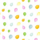 Geïsoleerd patroon van kleurrijke ballons Royalty-vrije Stock Foto's