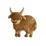 Geïsoleerd plasticine dierlijk 3D beeldhouwwerk Royalty-vrije Stock Afbeeldingen