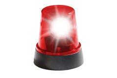 Geïsoleerd rood licht Royalty-vrije Stock Fotografie