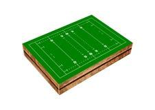 Geïsoleerd rugbygebied Royalty-vrije Stock Afbeeldingen