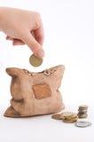 Geïsoleerd spaarvarken Stock Foto