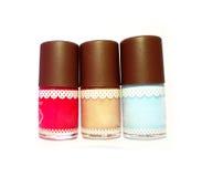 Geïsoleerd spijkerspoetsmiddel, het beeld van het spijkerspoetsmiddel, kleurrijk spijkerspoetsmiddel Stock Foto's
