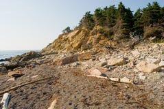 Geïsoleerd Strand stock afbeelding