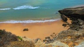 Geïsoleerd strand Stock Foto's