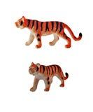 Geïsoleerd tijgerstuk speelgoed Royalty-vrije Stock Foto's