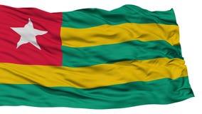 Geïsoleerd Togo Flag Royalty-vrije Stock Foto's