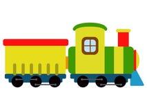 Geïsoleerd treinstuk speelgoed pictogram royalty-vrije illustratie