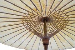Geïsoleerd underview van Thaise traditionele houten paraplu Royalty-vrije Stock Foto