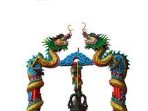 Geïsoleerd van Draak in Wat Thamai, Thailand (Openbare plaats) Royalty-vrije Stock Foto's