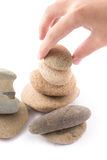 Geïsoleerd van saldo is de stenen zen voor kuuroord Stock Afbeeldingen