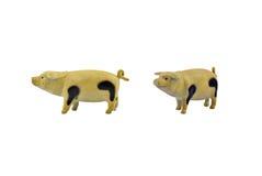 Geïsoleerd varkensstuk speelgoed Stock Foto